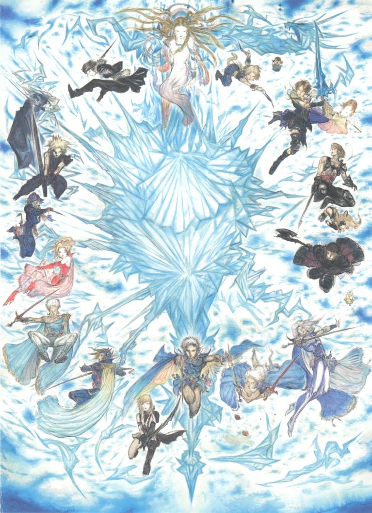 Final Fantasy 25th Anniversary Poster